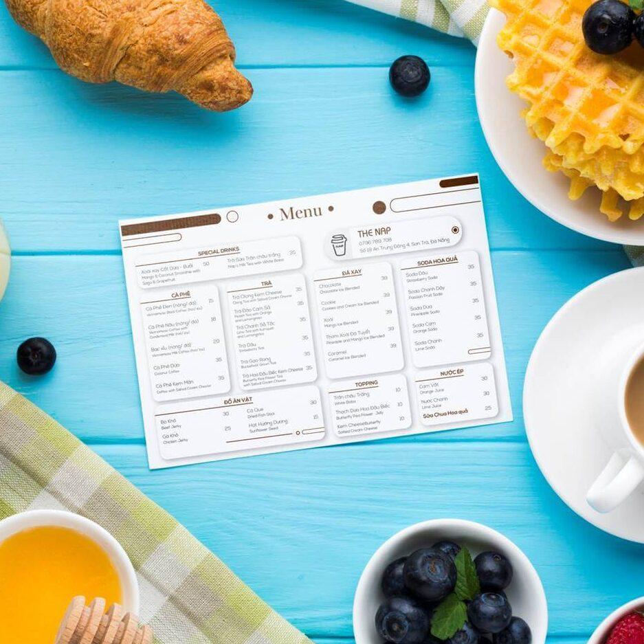 Thiet ke menu cafe Danang